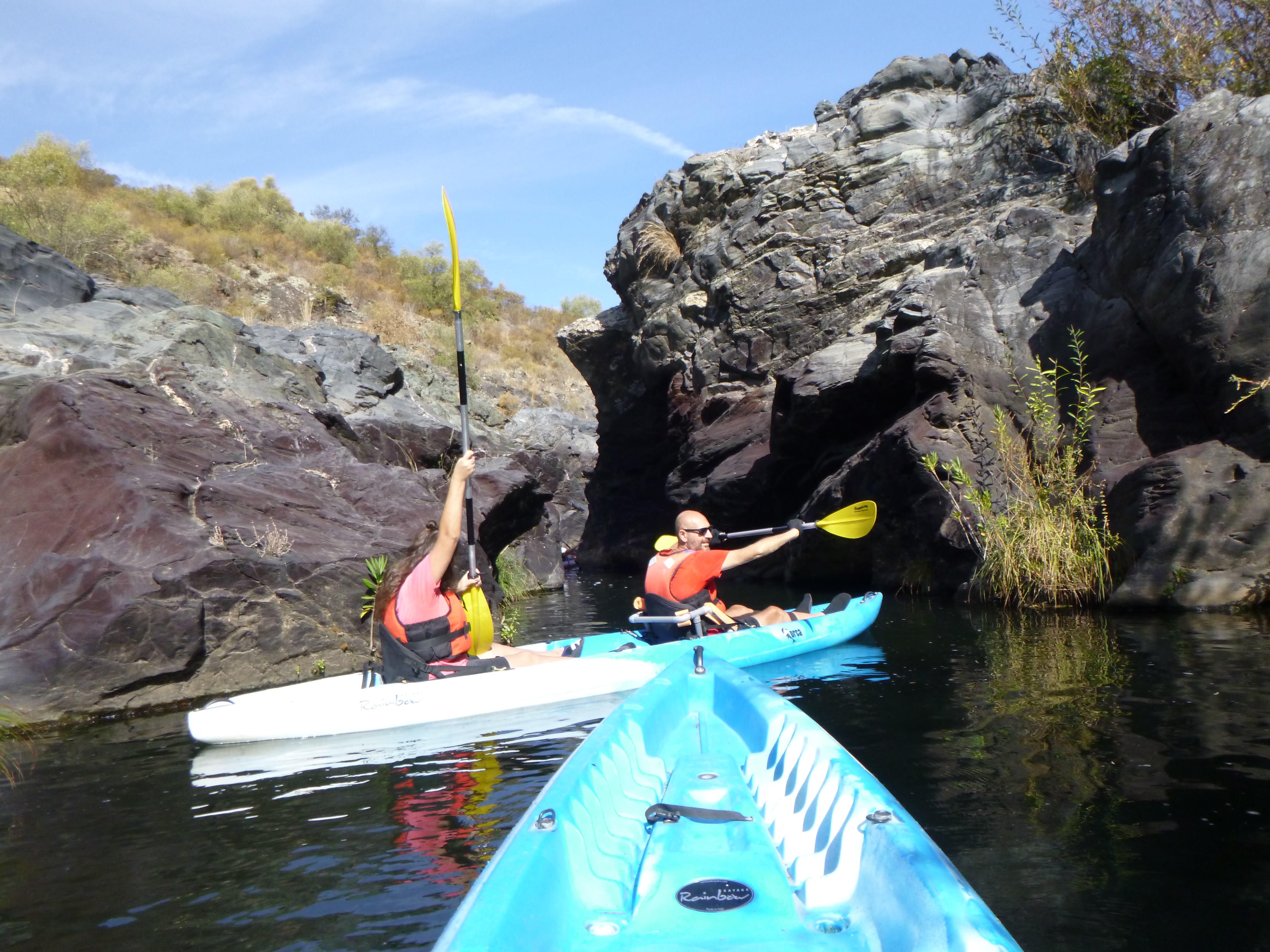Ruta de Kayak + Baño (Inclusivo - Discapacitados - Movilidad Reducida) en Villanueva del Río y Minas